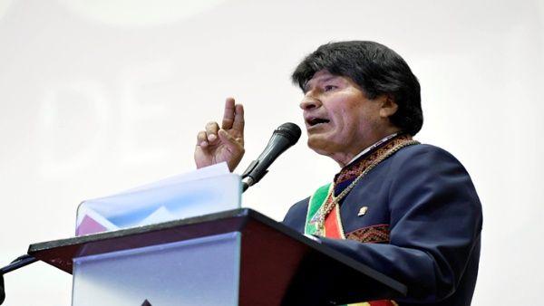 Morales aseguró que la finalidad del presidente de los EE.UU., Donald Trump, es apropiarse del petróleo.