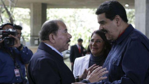 Nicaraguan President Daniel Ortega and Venezuelan President Nicolas Maduro.