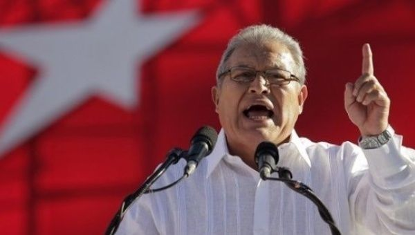 Salvadoran President of the FMLN party Salvador Sanchez Ceren