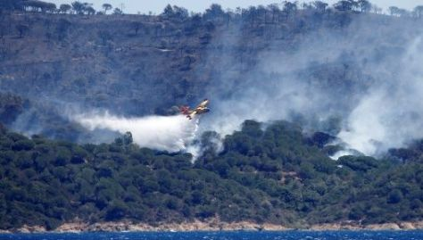 En La Croix Valmer, cerca del prestigioso balneario de Saint-Tropez, el fuego arrasócon 400 hectáreas de bosques.