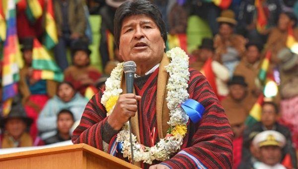 President of Bolivia Evo Morales.