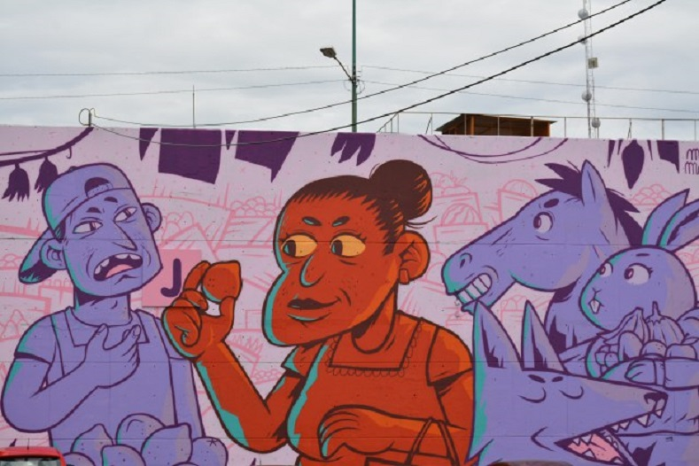 """It is undeniable that culture will always be an enemy of authoritarians because they do not want people to be aware of what's going on; this is something we want to change with Central de Muros,"" said one artist, Santiago Espinosa."