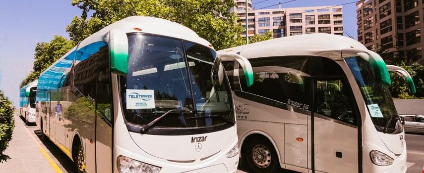 arriendo de minibus para 20 personas en Santiago