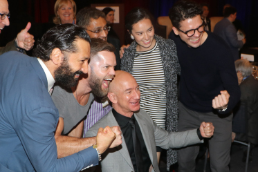 Bezos with Expanse Cast