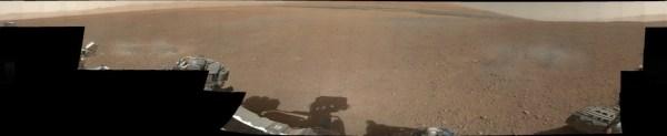 Az első színes panorámaképet a Curiosity főkameráitól. A négy napja tartó küldetésnek ez az eddigi legnagyobb tudományos eredménye.