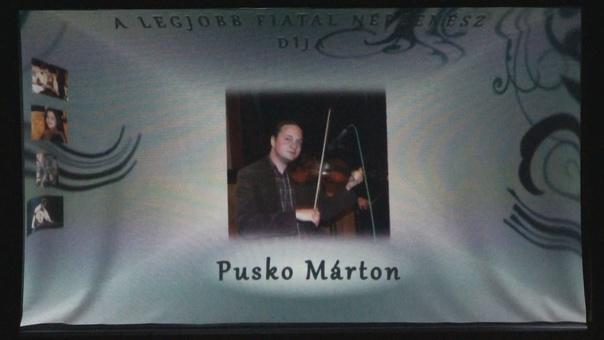 A legjobb fiatal népzenész díja – Pusko Márton