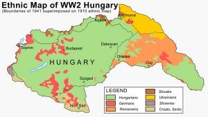 Hungary 1941 ethnic map