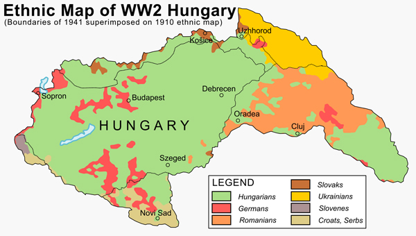 Hungary 1941 ethnic map