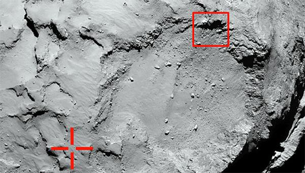 A Philea Lander leszállási helye (ESA)