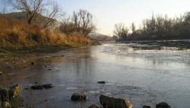 A Morva folyó Dévényújfalunál