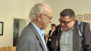 Tőzsér Árpád és Szászi Zoltán Fotó: Magyar Interaktív Televízió