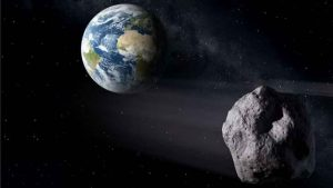 An artist's conception of an asteroid passing near the Earth. NASA is getting better at spotting them and giving us advance warning of their approach. Credit: ESA  Read more at: http://phys.org/news/2016-11-asteroid-va-earth-shadow.html#jCp