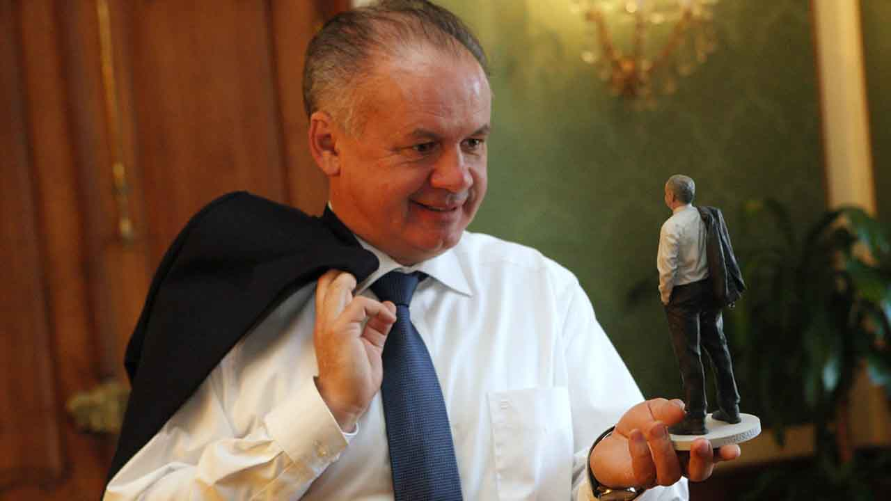 Andrej Kiska and the Mini-Me