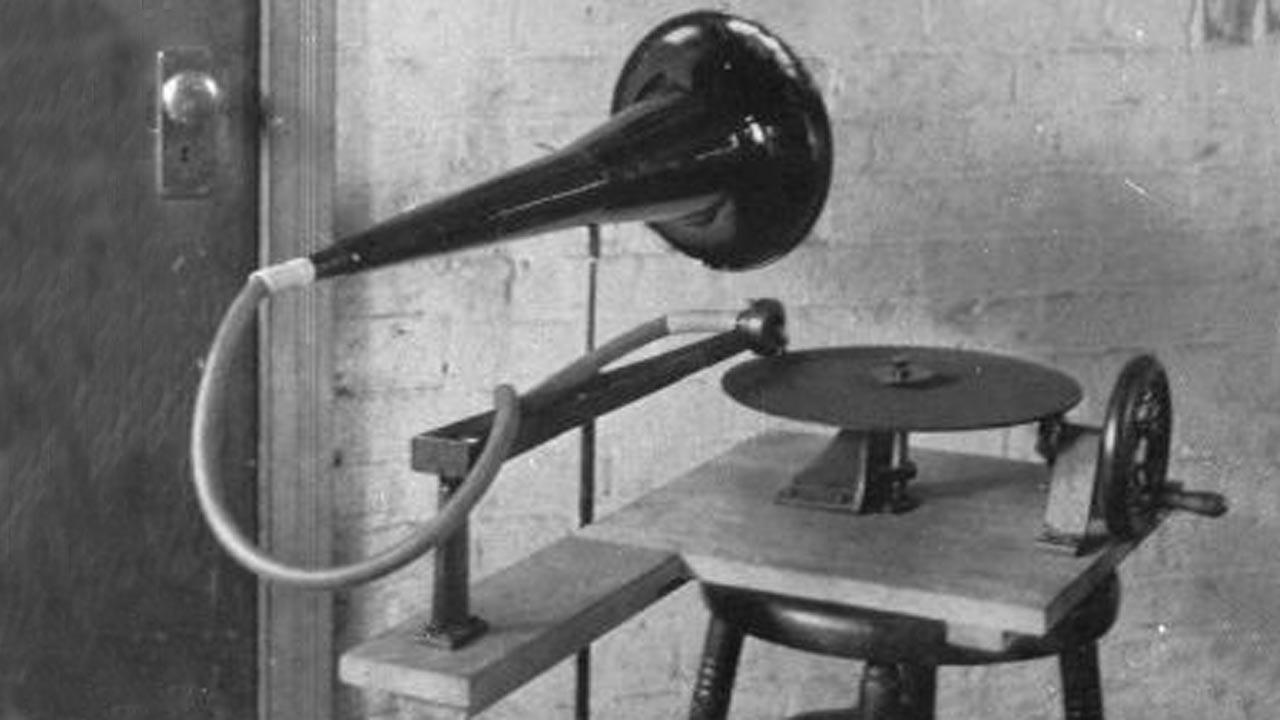 Émile Berliner gramofonja 1888-ból