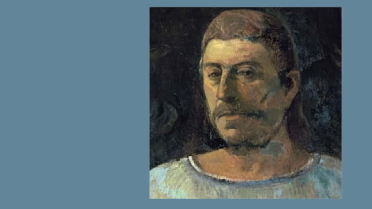 Paul Gauguin - Önarckép 1896 olaj
