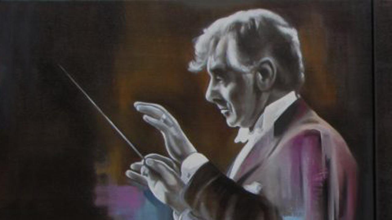 Leonard Benstein - Zászkaliczky Ágnes festményének részlete