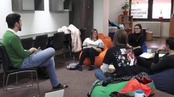 A magyarkanizsai irodalmi műhely résztvevői