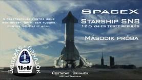 SpaceX Starship SN8 12,5 km-es tesztrepülés (második nekifutás)