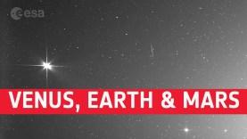 Távoli képen a Föld, a Mars és a Vénusz