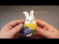 Horgolt huncut húsvéti nyuszi