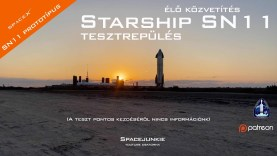 SpaceX Starship SN11 tesztrepülés élőben a texasi Boca Chicából