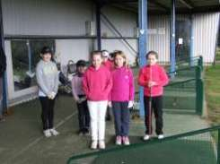 Some on course golf was played by the junior academy today