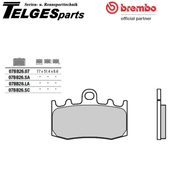 Brembo organisch Bremsbelag vorne BMW K 1200 GT ABS K 1200