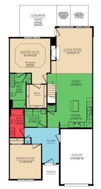 Yorkshire 2 Bedroom Floor 1