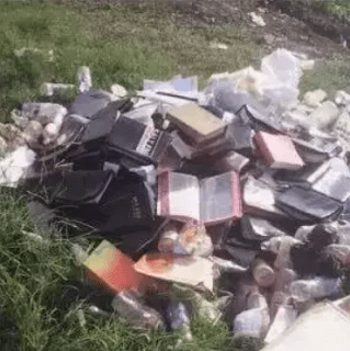 Thousands of Bibles set ablaze by Pastor, says they misleads his congregation