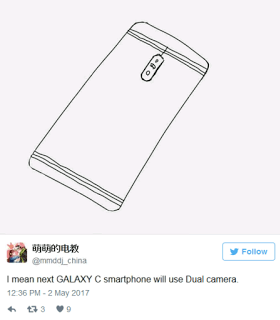Samsung Galaxy C10 to the first Samsung handset to feature dual snapper.