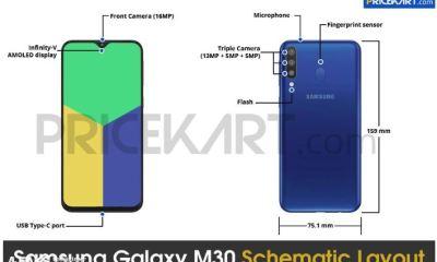 Samsung Galaxy M30 Schematic Layout