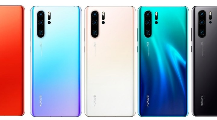 Huawei P30 Pro in colours