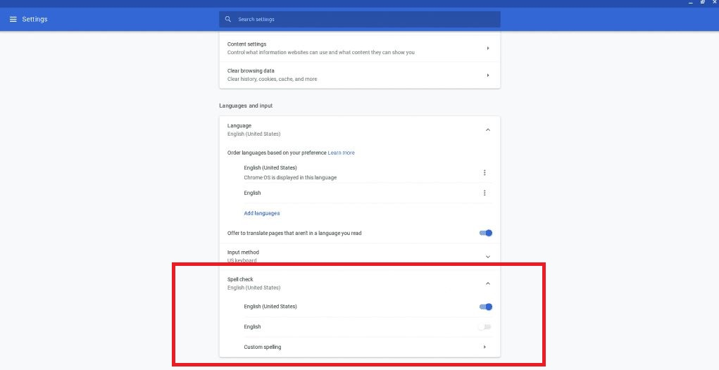 Configuring you chromes inbuilt dictionary 4 Google Chrome Spell Checker Not Working? How to fix it