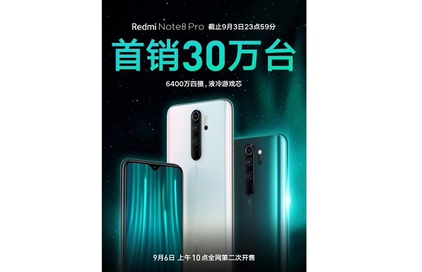Redmi Note 8 Pro Sales record