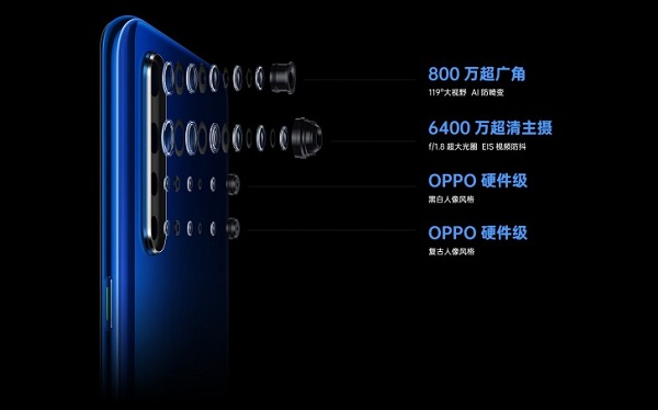 Oppo K5 rear camera properties