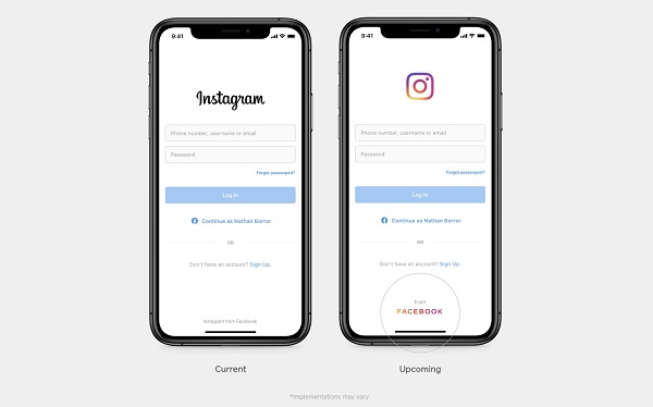 New Facebook Logo on Other social app.