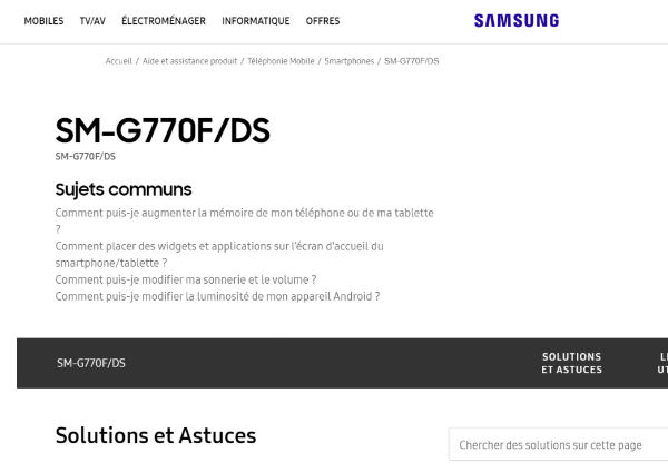 Galaxy s10 lite support page
