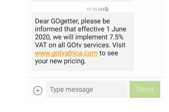 GOtv increases Tariff due to tax implementation
