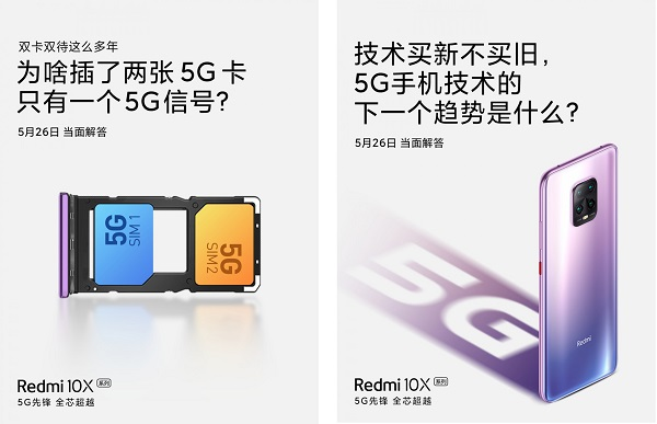 The Redmi 10X to be the first phone with 5G dual SIM support.