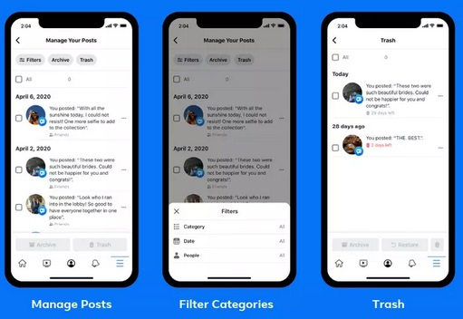 Facebook New Feature That Helps Mass Delete Old posts