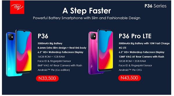 Price of itel P36 in Nigeria
