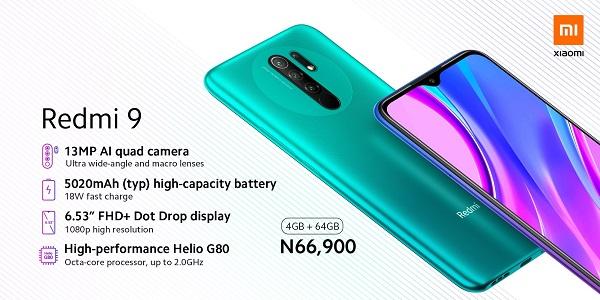 Redmi 9 price in Nigeria