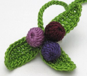 d.i.y crochet kit for a new leaf bookmark