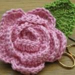 crochet camellia corsage