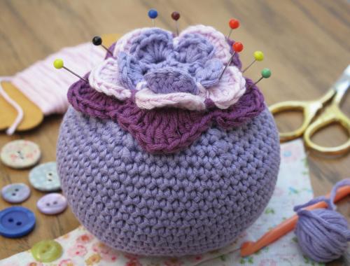 Starflower Pincushion Pattern Tell Laura I Love Crochet