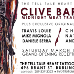 Clive Barker Midnight Meat Train Exhibit at The Tell Tale Heart Tattoo & Art Gallery