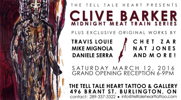 Clive Barker at The Tell Tale Heart Gallery