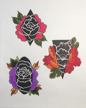 Tattoo flash by Carole