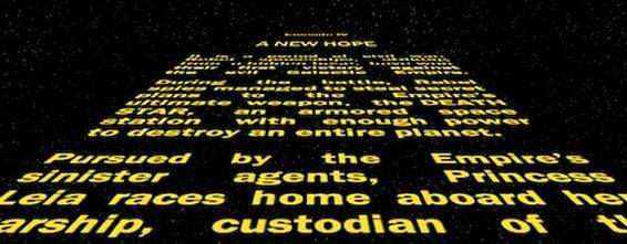 créditos de abertura de star wars
