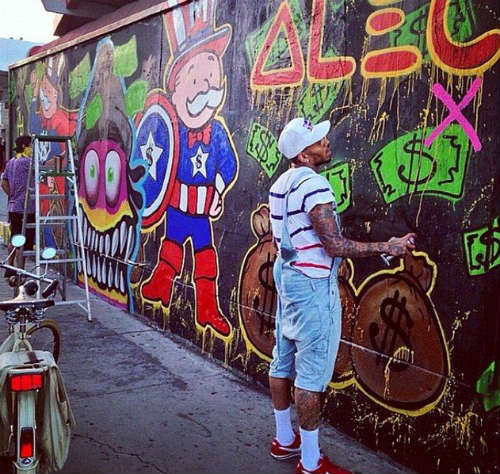 grafite de chris brown